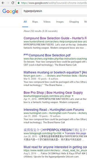 hyperpolyresin search results