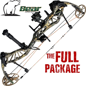 330 FPS! Bear Approach, THE BIG PACKAGE, Full Pro-Shop Prepped Bowhunting Package Deal