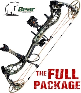 NEW! 338 FPS! 2019 Bear Divergent, Realtree EDGE Camo, THE BIG PACKAGE, Full Pro-Shop Prepped Bowhunting Package Deal