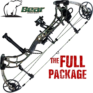 350 FPS! Bear Escape, THE BIG PACKAGE, Full Pro-Shop Prepped Bowhunting Package - CLOSE-OUT!!!