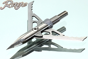 Rage Trypan, 2-Blade Titanium, 100 Grain Mechanical Broadhead, 3-Pack