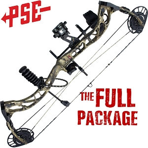328 FPS! PSE Ferocity, THE BIG PACKAGE, Full Pro-Shop Prepped Bowhunting Package Deal
