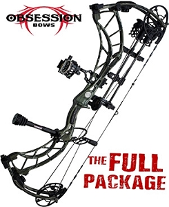 NEW! 2019 Obsession FX6, in MOSSY OAK BOTTOMLAND FINISH, THE BIG PACKAGE, Full Pro-Shop Prepped Bowhunting Package Deal
