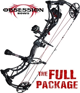 NEW! 2019 Obsession FX7, in VEIL TAC BLACK FINISH, THE BIG PACKAGE, Full Pro-Shop Prepped Bowhunting Package Deal