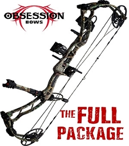 NEW! 2019 Obsession Turmoil RZ, THE BIG PACKAGE, Full Pro-Shop Prepped Bowhunting Package Deal