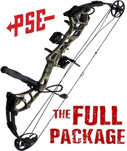 316 FPS! PSE Stinger Extreme, THE BIG PACKAGE, Full Pro-Shop Prepped Bowhunting Package Deal