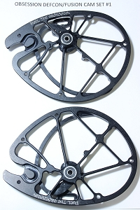OEM Obsession Archery Defcon/Fusion 2-PC Cam Set, Size #1 (Top & Bottom)