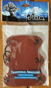 Vista Traditional Armguard- Leather Construction, One Size fits All -CLOSE OUT!