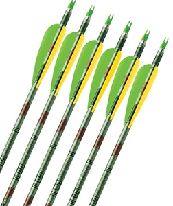 Easton XX75 Aluminum Camo Hunter,  Finished Arrows