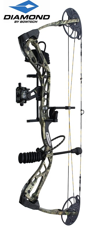 318 FPS! 2018 Diamond Edge SB-1, THE BIG PACKAGE, Full Pro-Shop Prepped Bowhunting Package Deal