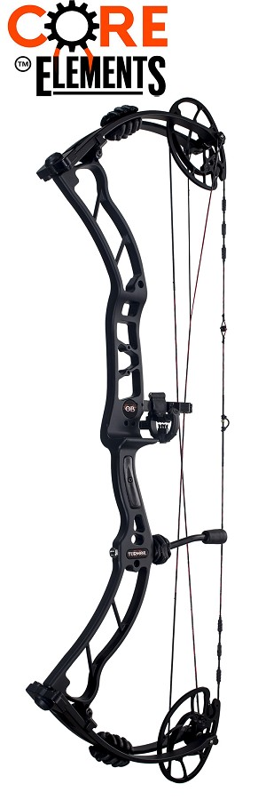 2017 Obsession Turmoil, IN BLACK, Core Elements Compound Bow Package