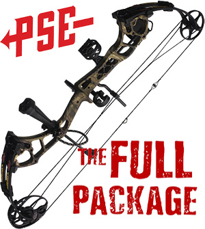 NEW 2021 PSE Stinger MAX, 304 FPS, THE BIG PACKAGE, Full Pro-Shop Prepped Bowhunting Package Deal