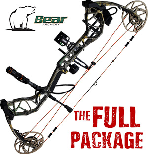 338 FPS! 2020 Bear Divergent EKO, THE BIG PACKAGE, Full Pro-Shop Prepped Bowhunting Package Deal