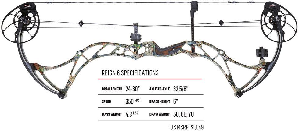 2017 Bowtech Reign 6 with specifications