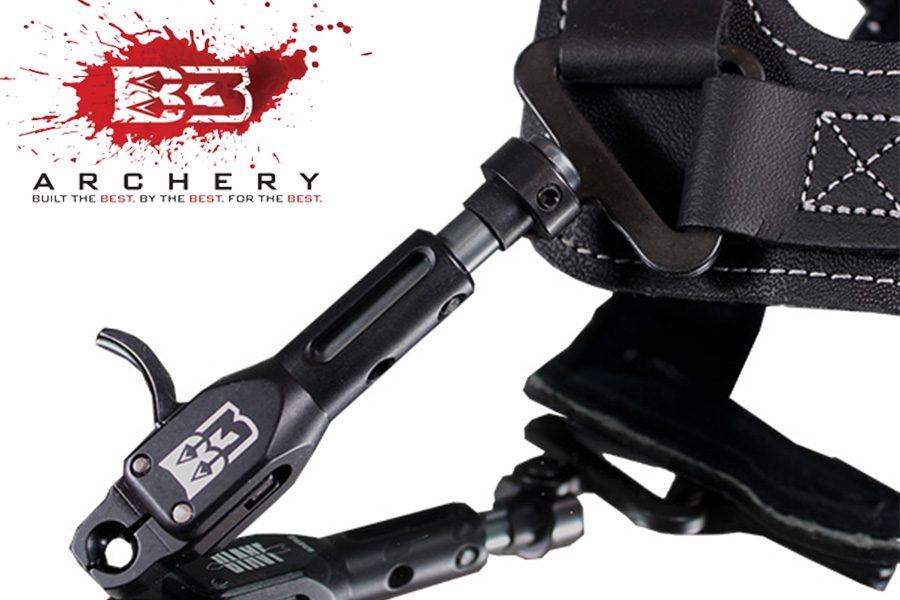 B3 Archery, Rival Double-Caliper Release, With Swivel Stem in BLACK
