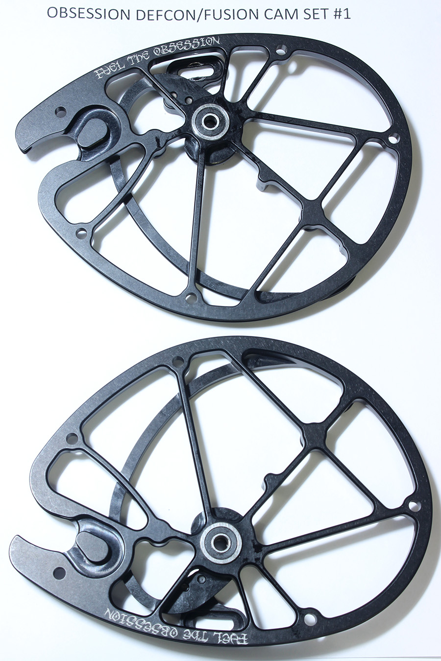 OEM Obsession Archery Defcon/Fusion 2-PC Cam Set, Size #1 (Top & Bottom) photo 1