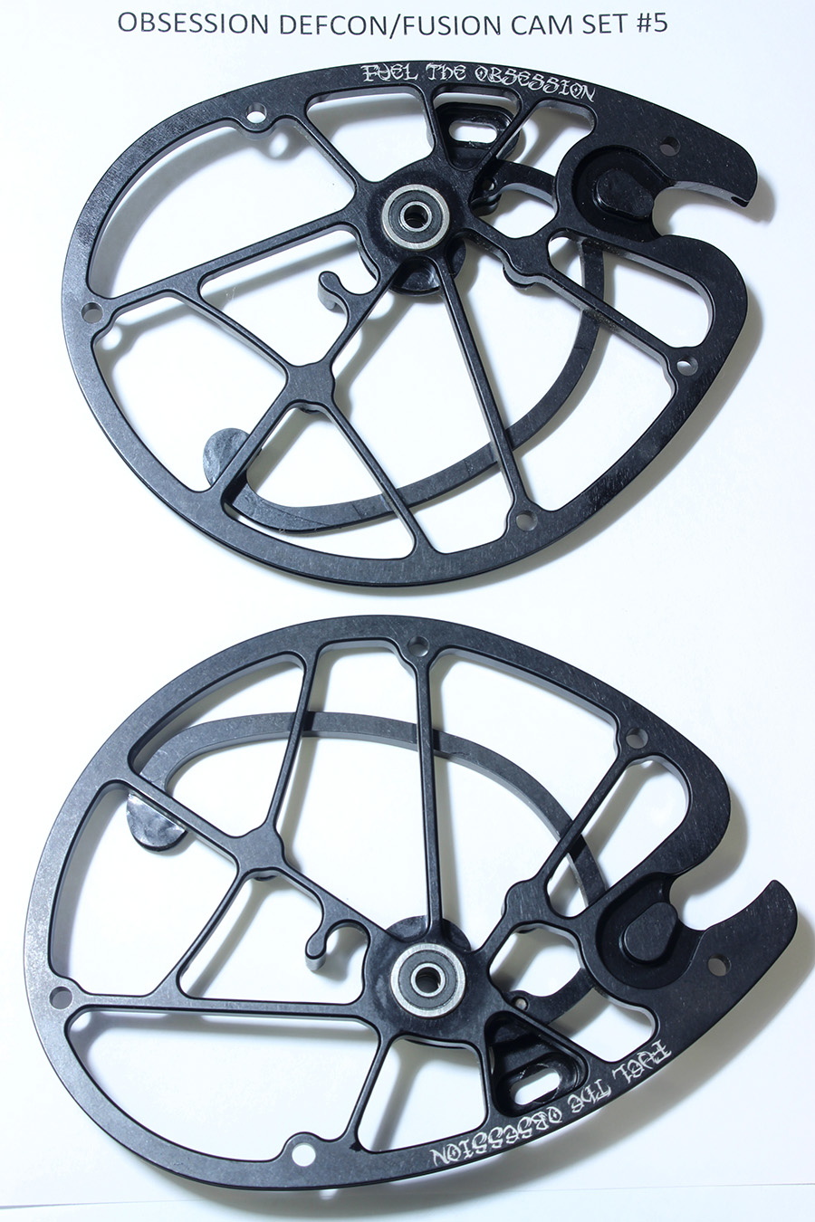OEM Obsession Archery Defcon/Fusion 2-PC Cam Set, Size #5 (Top & Bottom)