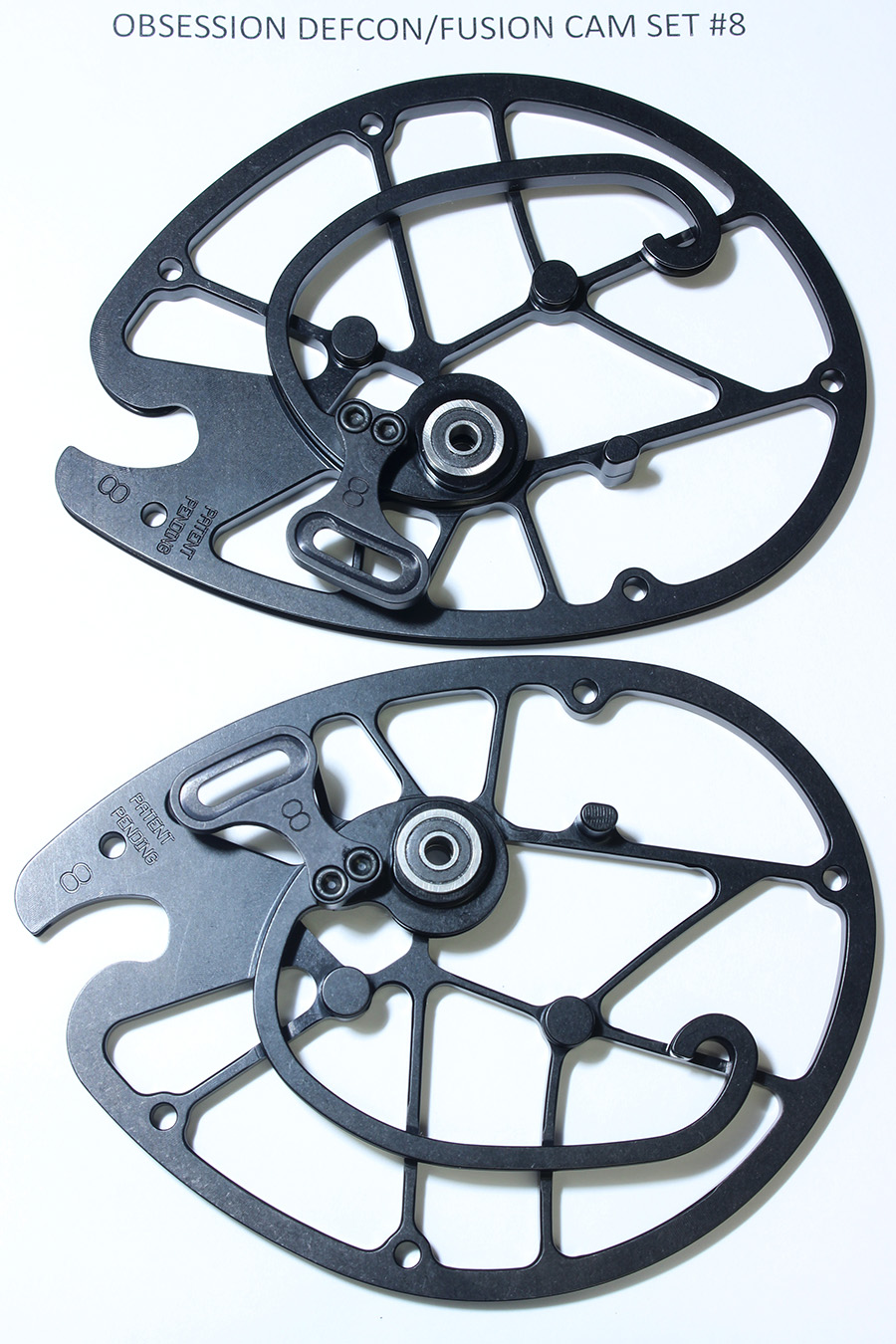 OEM Obsession Archery Defcon/Fusion 2-PC Cam Set, Size #8 (Top & Bottom) photo 2