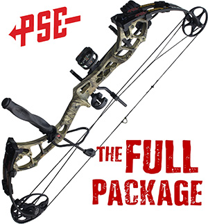 NEW! 304 FPS! 2020 PSE Stinger MAX, THE BIG PACKAGE, Full Pro-Shop Prepped Bowhunting Package Deal