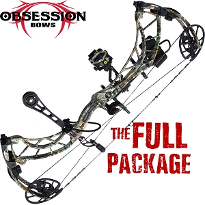 354 FPS! Obsession Fixation 6M, THE BIG PACKAGE, Full Pro-Shop Prepped Bowhunting Package Deal