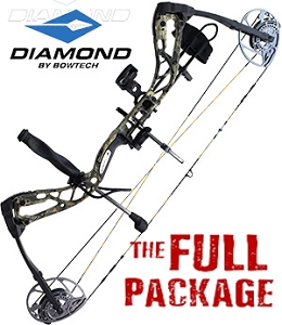 NEW! 320 FPS! 2019 Diamond Edge 320,  RH 7-70#, Mossy Oak Break Up Country, Full Pro Shop Package!