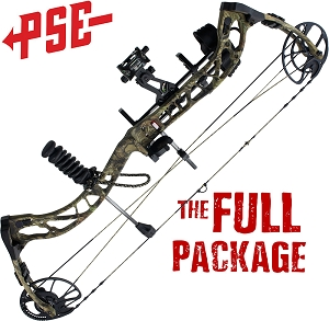 318 FPS! PSE RAMPED, THE BIG PACKAGE, Full Pro-Shop Prepped Bowhunting Package Deal