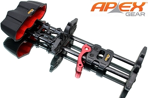 Apex Reactor 5-Arrow Compound Bow Quiver, Black Finish