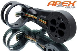 Apex Atomic Lite 3-Pin Lightweight Composite Bow Sight, Bulk Stock Money-Saver