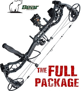 NEW! 338 FPS! 2019 Bear Divergent, IRON FINISH, THE BIG PACKAGE, Full Pro-Shop Prepped Bowhunting Package Deal