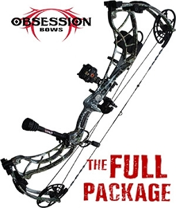NEW! 370 FPS! 2019 Obsession Lawless, in Mossy Oak Mountain Country, THE BIG PACKAGE, Full Pro-Shop Prepped Bowhunting Package Deal