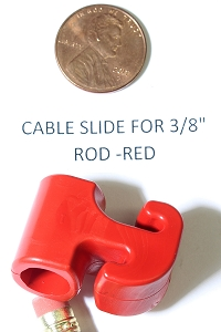 Replacement Cable Slide for 3/8 (.375) Compound Bow Cable Rods, Red Color