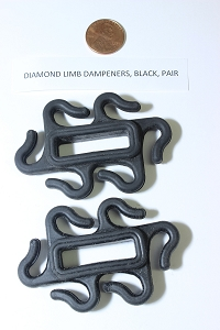 Diamond Limb Dampeners, Over the Limb Style, Original OEM Parts, Black PAIR