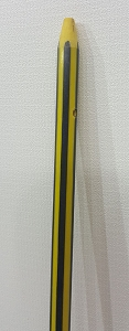 Black and Yellow Fishing Arrow, RAW SHAFT ONLY, -SINGLE ARROW SHAFT-
