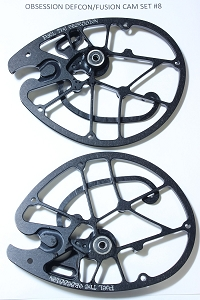 OEM Obsession Archery Defcon/Fusion 2-PC Cam Set, Size #8 (Top & Bottom)