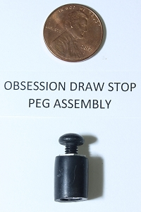 Obsession Draw Stop Peg Assembly for Cam, Original OEM Replacement Part