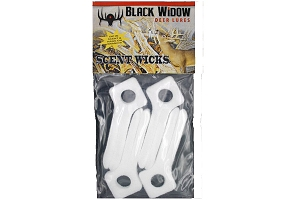 Black Widow Deer Lures, Scent Wicks, 4-PK