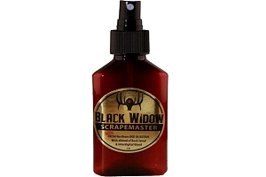 Black Widow Deer Lures, SCRAPEMASTER, 100% FRESH Northern DOE-IN-ESTRUS, 3 OZ Bottle