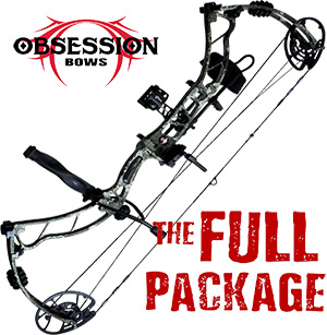 NEW! 2020 Obsession Turmoil RZ, THE BIG PACKAGE, TRUE TIMBER STRATA, Full Pro-Shop Prepped Bowhunting Package Deal