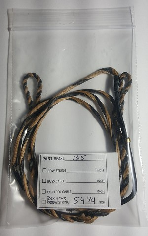 "54 1/4"" STRING, RECURVE Bow Replacement Part, TAN & BLACK"
