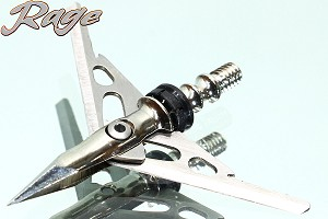 Rage Hypodermic 100 Grain Broadheads 3-Pack, Penetrates Toughest Game!