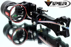 "Viper Venom XL 5-Pin .015"" Compound Bow Sight, WITH CHOICE OF ZEISS LENS!"