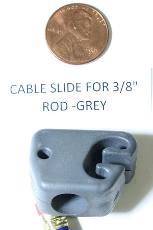 Replacement Cable Slide for 3/8 (.375) Compound Bow Cable Rods, Grey Color
