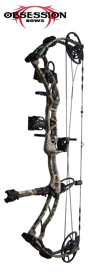 NEW! 2019 Obsession HB33,in Mossy Oak Mountain Country Camo, THE BIG PACKAGE, Full Pro-Shop Prepped Bowhunting Package Deal