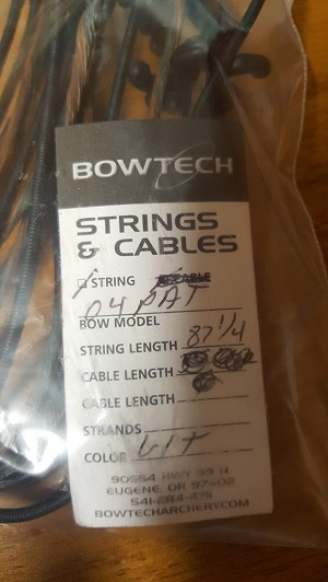Bowtech Replacement String (STRING ONLY) - 2004 Bowtech Patriot  STR: 87 1/4""