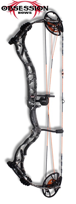 NEW 2021! 348 FPS! 2021 Obsession TM33, in GRAY SCALE, -BAD TO THE BONE-  Build Your Own Bowhunting Package, You Pick the Components